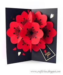 crafticious pop up card flowers