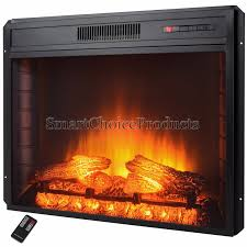 28 in freestanding electric fireplace insert heater with remote