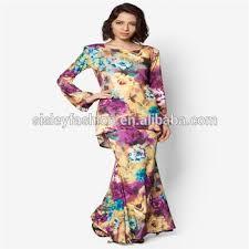 download gambar model baju kurung modern dalam ukuran asli di atas grosir muslim wanita model baju kurung modern bunga cetak baju