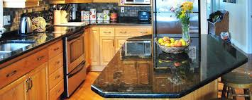 Black Countertop Kitchen by Granite Countertop Kitchen Wine Coolers Cabinets Backsplash For