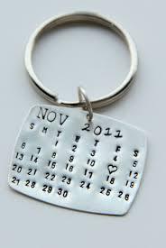 keychain favors sale sterling calendar keychain gift for him calendar key