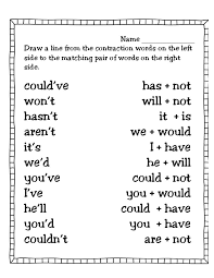 best 25 contraction worksheet ideas on pinterest nouns and