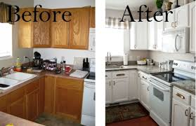 How To Paint Oak Kitchen Cabinets Kitchen Appealing Painted Kitchen Cabinets Before And After The