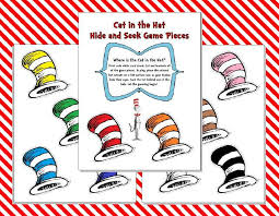 the cat in the hat coloring page cat in the hat hide and seek game printable