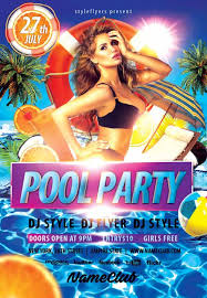 party flyer free download the summer pool party free flyer template
