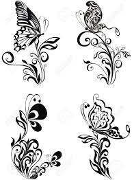 decorative vector ornament vector floral ornament with butterfly