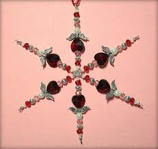 29 best beaded snowflake ornaments images on