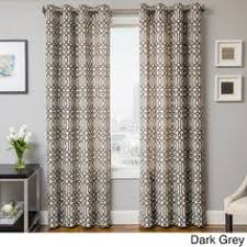 Overstock Kitchen Curtains by Exclusive Fabrics Royal Gate Flocked Faux Silk Taffeta Curtain
