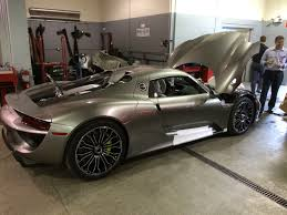 porsche 918 acid green one of the first customer delivery 2015 porsche 918 spyders in the