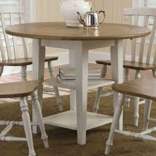 Dining Tables  Antique Dining Table With Hidden Leaves Drop Leaf - Drop leaf round dining table ikea