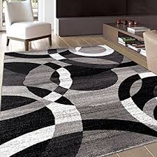 Black And Brown Area Rugs Amazon Com Rugshop Modern Circles Area Rug 5 U0027 3
