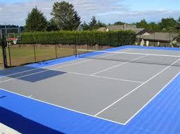 Backyard Tennis Court Cost Backyard Courts Gallery Sport Court