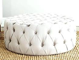 round leather tufted ottoman charming ethan allen ottoman image of white tufted ottoman ethan