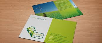 Landscape Business Cards Design Energy Cycle Energy Assessor Logo Business Card Design