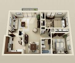 2 house plan impressive two bedroom 3d house plans your plan now