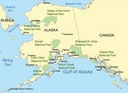 denali national park map alaska national parks