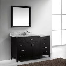 abodo 57 inch contemporary single sink bathroom vanity espresso