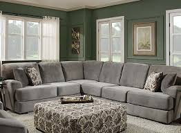 Suede Sectional Sofas The Ultra Comfortable Serre 2 Piece Suede Sectional Sofa Features