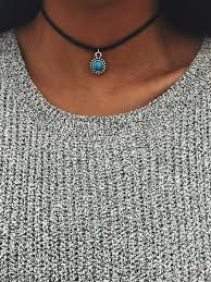 cute necklace chokers images Dainty turquoise mandala choker simple elegant necklaces jpg