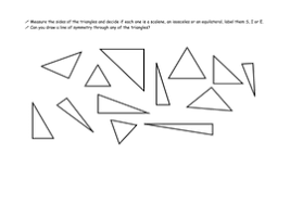 types of triangles by v3884 teaching resources tes