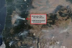 map of oregon smoke wildfire smoke chokes western oregon timelapse kval