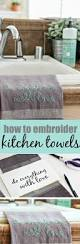 diy embroidered kitchen towels tonya staab
