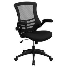 swivel task chair with mesh padded seat black flash furniture
