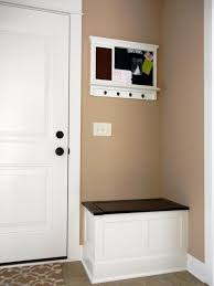 white door entry hallway bench small with cream wall can add the