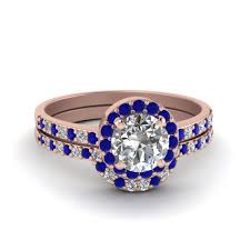 thin band engagement ring cut halo diamond ring thin band with blue sapphire in 14k
