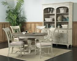 Round Dining Room Sets Kincaid Weatherford Milford Round Dining Table Set In Cornsilk