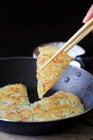 cuisine pancake shredded potato pancake china sichuan food