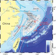 East China Sea Map Major Sinks Of The Changjiang Yangtze River Derived Sediments In