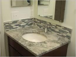 Brilliant Bathroom Vanity Backsplash Ideas Trends Small Tile N - Tile backsplash bathroom