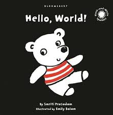 hello world black and white sparkler board book smriti