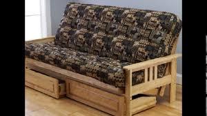 futon sofa bed with storage youtube