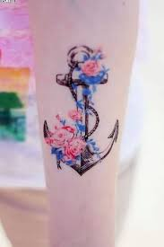 anchor leg tattoo art and designs