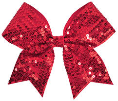 ribbon for hair chassé sequin performance hair bow omni cheer