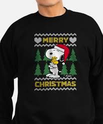 snoopy christmas sweatshirt peanuts christmas sweatshirts cafepress