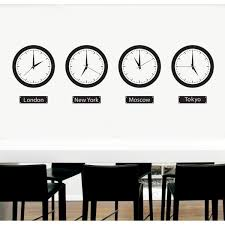 wall decals thewonderwalls time zone clocks wall stickers vinilo relojes pared time zone clocks fun graphics