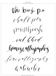 calligraphy and lettering brushes for procreate