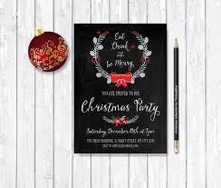 christmas invitation printable christmas party invitation