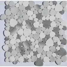White Pebble Tiles Bathroom - post taged with pebble stone tile bathroom ideas u2014