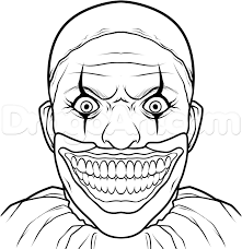 how to draw twisty the clown step by step characters pop