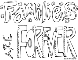 family coloring pages religious doodles