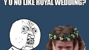 Frowning Meme - the royal wedding s best meme we pick frowning flower girl