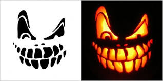 Free Scary Halloween Pumpkin Stencils - halloween scary pumpkin carving stencils free vectors ui download