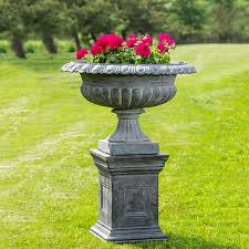 cast iron outdoor garden urns