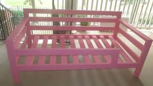 Twin Size Bed For Toddler Ana White Pink Twin Day Bed Made For A Toddler Diy Projects
