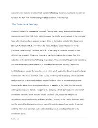 goldman sachs case study