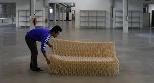 Sofa Lengths A Collapsible Sofa Made Of 8 000 Chopsticks Co Design